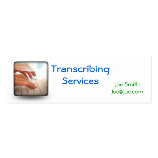 typing, Transcribing Services, Noemy Medinano3m... Business Card Templates