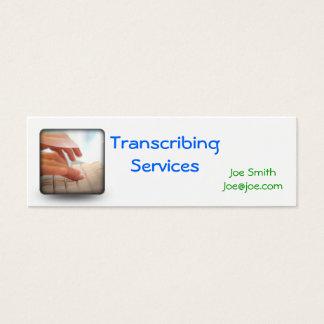 typing, Transcribing Services, Noemy Medinano3m... Mini Business Card