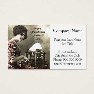 Typist Administrative Professional Day Vintage Pho Business Card