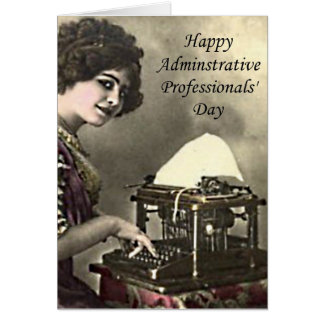 Typist Administrative Professional Day Vintage Pho Card