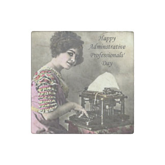Typist Administrative Professional Day Vintage Pho Stone Magnet