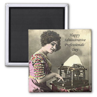 Typist Administrative Professional Day Vintage Pho Magnet