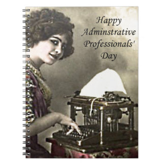 Typist Administrative Professional Day Vintage Pho Spiral Notebook