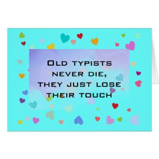typist humor card