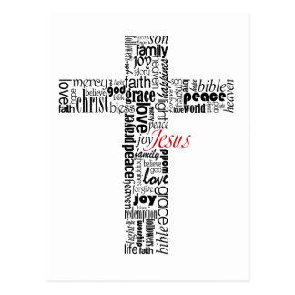 Typo Cross Postcard