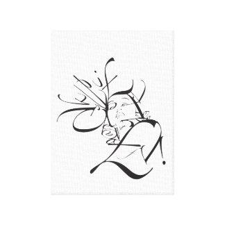 Typo portrait canvas print
