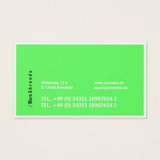 Typo visiting cards