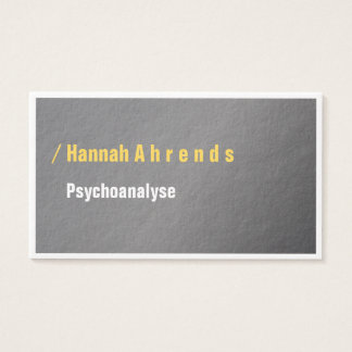 Typo visiting cards yellow