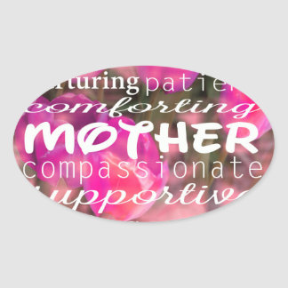 Typograph for Mothers Oval Sticker