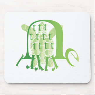 typograph-turtle mouse pad
