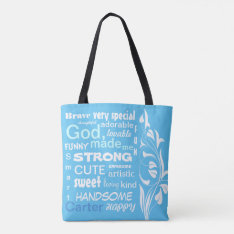 Typographic Art Design, Personalize For A Boy Tote Bag at Zazzle