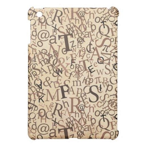 Typographic Art iPad Mini Case