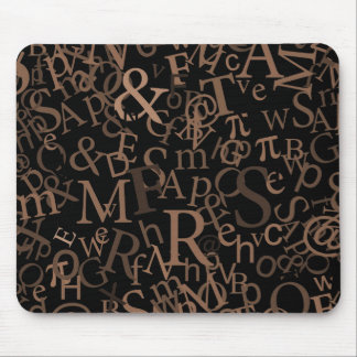 Typographic Art Mouse Pads