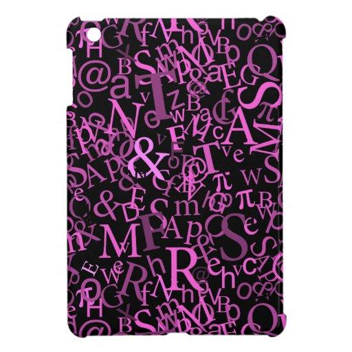 Typographic Art, Pink Case For The iPad Mini