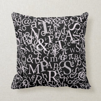 Typographic Art Throw Pillow