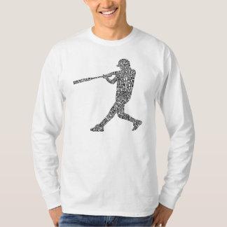 Typographic Baseball Softball Player Men's Tee