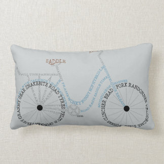 Typographic Bicycle Bike Biking Cycling Cushion