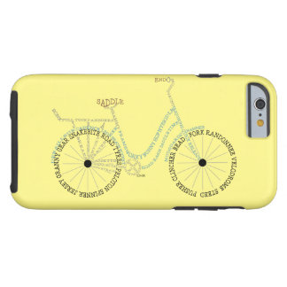 Typographic Bicycle Biking Cycling iPhone 6 Case