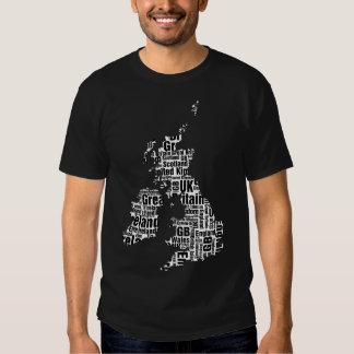 Typographic British Isles. Shirt