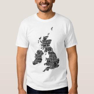 Typographic British Isles. Tee Shirt