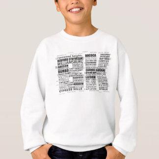 Typographic Brooklyn BK Text Sweatshirt