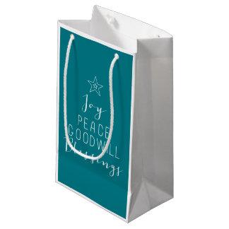 Typographic Christmas Tree Gift bag Small Gift Bag