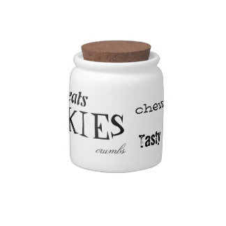 Typographic Cookie Jar Candy Jars