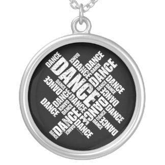 Typographic Dance (Distressed) necklace