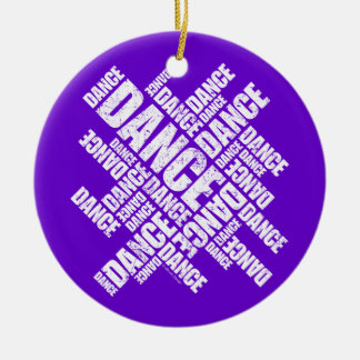 Typographic Dance (Distressed) ornament