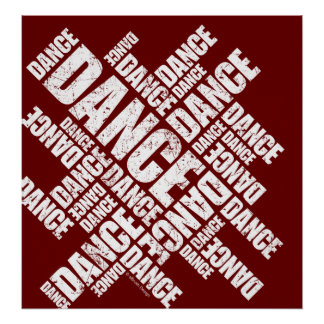 Typographic Dance (Distressed) poster