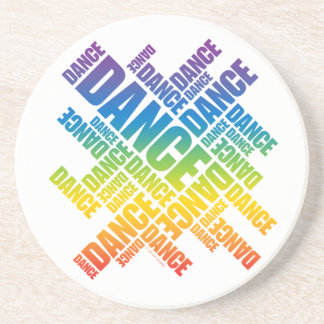 Typographic Dance Spectrum coaster