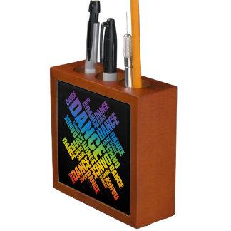 Typographic Dance (Spectrum) Desk Organizers