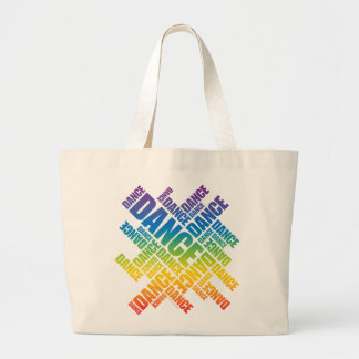Typographic Dance (Spectrum) Large Tote Bag