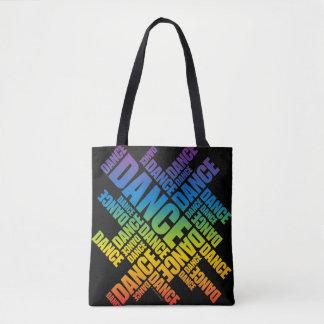 Typographic Dance (Spectrum) Tote Bag