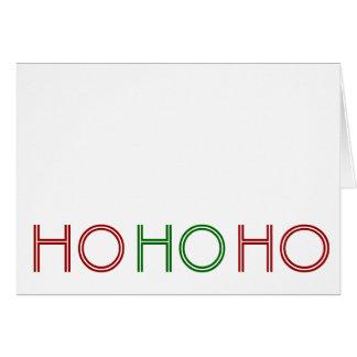 "Typographic ""Ho ho ho, fo' sho'"" Holiday Card"