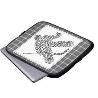 Typographic Hockey Goalie Laptop Sleeve