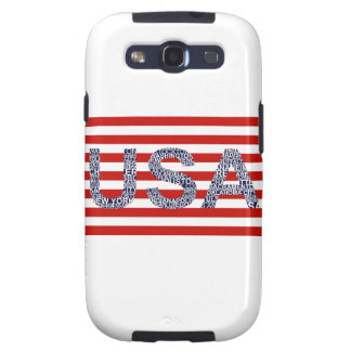 Typographic illustration with text USA Samsung Galaxy SIII Case