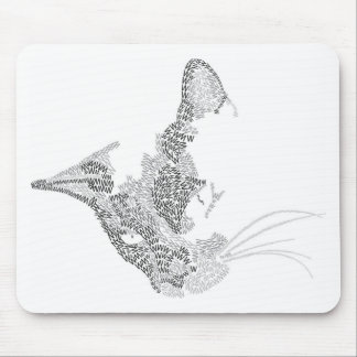 Typographic Kitty Mouse Pad