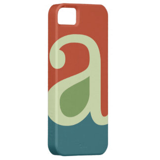 Typographic Monogram Letter A - Muted iPhone 5 Cover