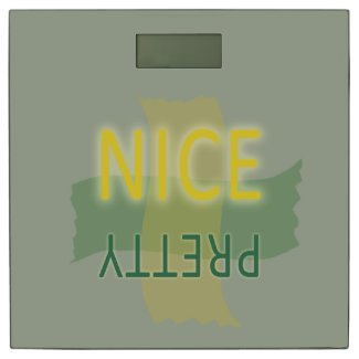 Typographic Pretty Nice Yellow Green on any Color