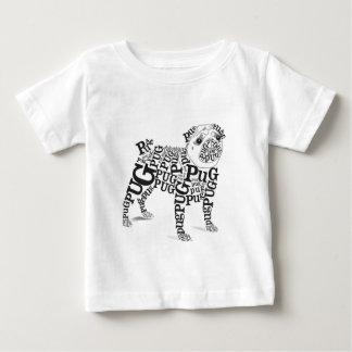 Typographic Pug Baby T-Shirt