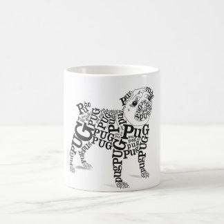 Typographic Pug Coffee Mug