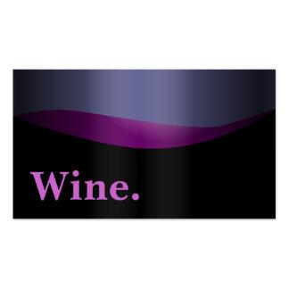 Typographic Purple Liquor Wine Business Card