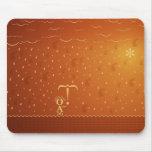 Typographic Rain (Color 2) Mouse Mat