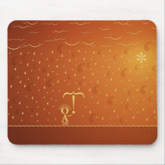 Typographic Rain (Color 2) Mouse Pad