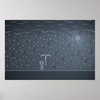 Typographic Rain Posters