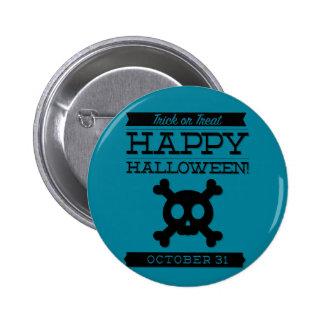 Typographic retro Halloween Button