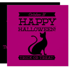 Typographic retro Halloween Invitation