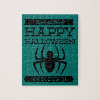 Typographic retro Halloween Jigsaw Puzzle