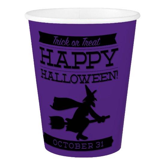 Typographic retro Halloween Paper Cup